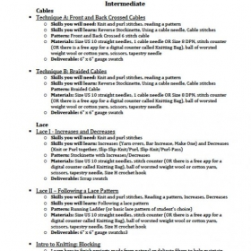 Sample Lesson Plans - Intermediate