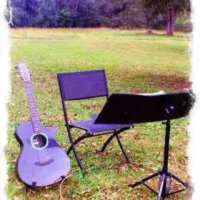 I enjoy playing for weddings and special events. This is from a recent outdoor wedding.