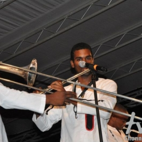 Performing on flute at the famous Tobago Jazz festival (2010).