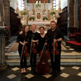After a great recital with the President's String Quartet in Lucca, Italy!