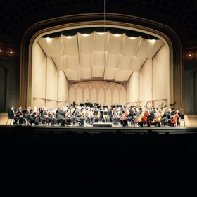 With the University of Colorado Symphony Orchestra