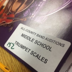 Picked as one of the judges for all county middle school band auditions