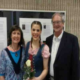 My grandparents and I at Hansel and Gretel!