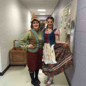 Hansel and Gretel backstage!