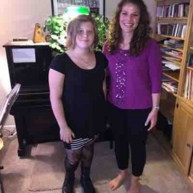 Me with one of my current students, Tori!