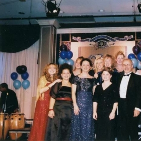 Kathy with Crossroads Teen Choir after performing for the Melody of Hope fundraiser for the Maryland Pediatric Aids Clinic