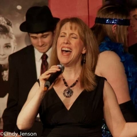 "Kathy singing in the production ""A Blast From The Past'"