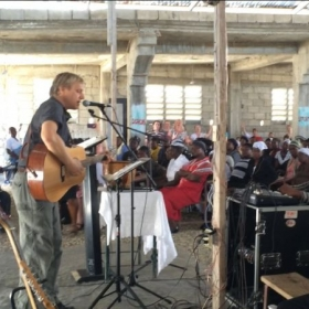 Playing/Singing at a Haitian church