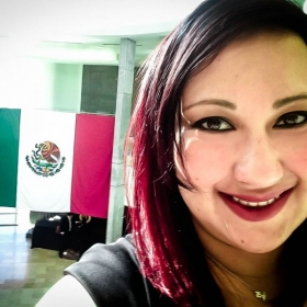 Me at the University Arts Center in Juarez, Chihuahua Mexico.