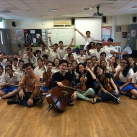 Sophron Visits Regent Secondary School! Enjoying ourselves as we engage with students through music!