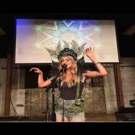 Performing as BinX at my album release party