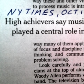 Musical Training will play a central role in YOUR and/or your kids life.