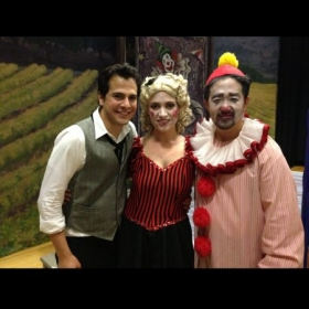 Backstage before playing Silvio in Pagliacci with the New Rochelle Opera