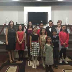 10 very amazing students performed some beautiful music at their Winter Recital. (4 other students not shown).