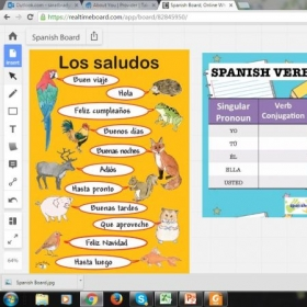 The interactive whiteboard lets me upload pictures, worksheets, youtube videos, audios and more.
