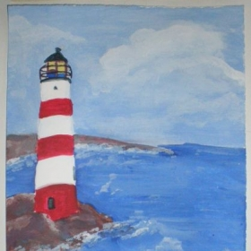 Grade 5 - Hopper Lighthouse Painting