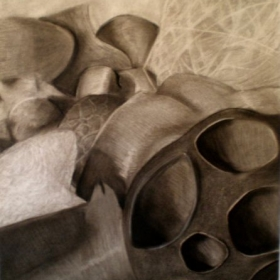 Charcoal Drawing - high school