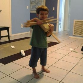 My son is helping me make box violins and bows for Suzuki Violin classes.