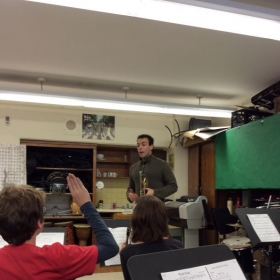 Teaching a Master Class at PS 126/MAT in New York City