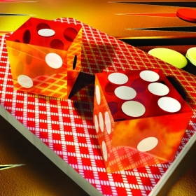 3D Illustration for a national magazine article on craps.
