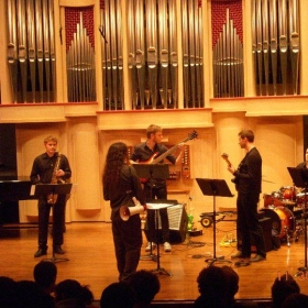 "Performing ""An Experiment in..."" at the University of SC New Voices Concert"
