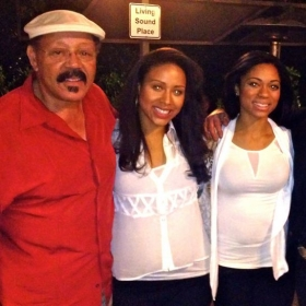 After a show I musically directed with family & founding father of Earth Wind & Fire.