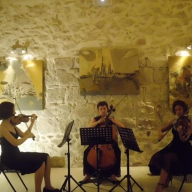 Performing at my chamber music festival, Trio Ristorcelli, in Corsica!