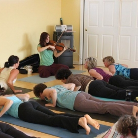 Live viola at my yoga studio in Nevada.