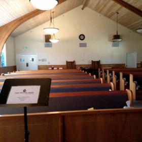 Main sanctuary for voice lessons and recitals!