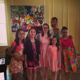 After a successful recital with my students in spring 2014
