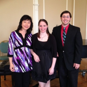 With my professor and duet partner after a recital in Oxford, OH