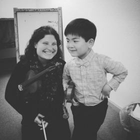 With 5 year old beginner student Miles