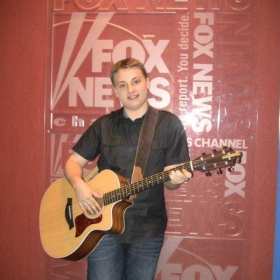 """Backstage for my performance on """"Fox & Friends""""."""