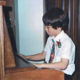 My first piano recital in third grade