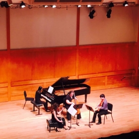 Performing in a Chamber Music Festival with my fabulous colleagues!