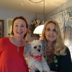 Student Kathryn and I (with Roxy).