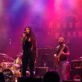 Lilla performing in front of a sold our crowd at the House Of Blues in Boston