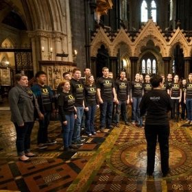 Performing with the University of Oregon Chamber Choir in Ireland