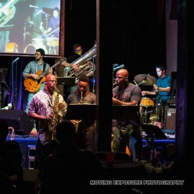 Performing with Sandaga Jazz Band in Dallas, TX