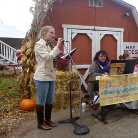 Performing at the Bishop Farm Fall Fair