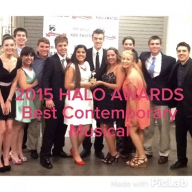 15 of my students, including 3 of the 4 lead roles, were in this production that won a Halo for best contemporary musical.