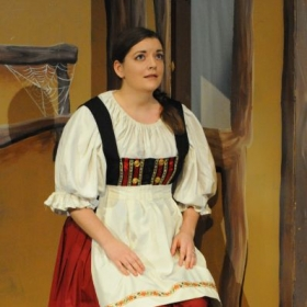 Singing the Mother in Hansel and Gretel with Loudoun Lyric Opera.  Photo by Jim Poston.