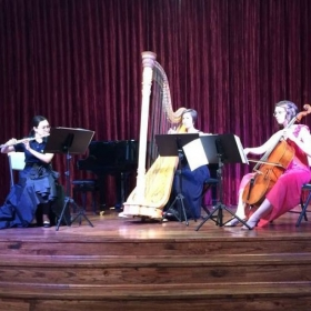 AURORA, trio for flute, cello, and harp