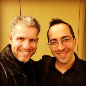 MichEal with Drummer and Sabian Education Consultant Joe Bergamini