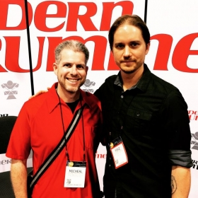 MichEal and Mike Dawson (Managing Editor - Modern Drummer Magazine)