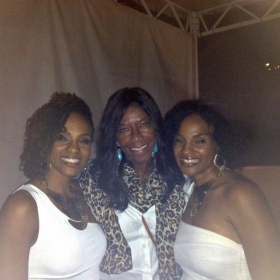 My twin sister and I at the Hollywood Bowl with our boss Natalie Cole