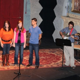 Publicity performance with actors from a production of Tick, Tick...BOOM that I music directed.