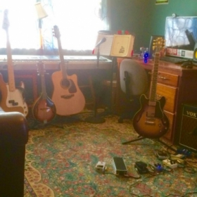 My home studio where I teach lessons.