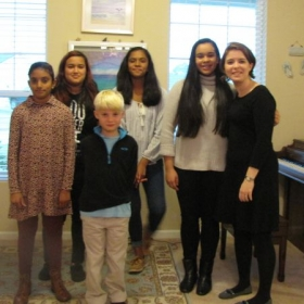 Heather's students may take part in twice-yearly recitals.