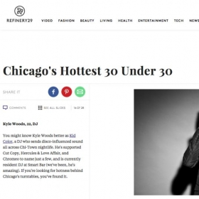 Featured on Refinery29's Chicago's Hottest 30 Under 30 list in 2011.